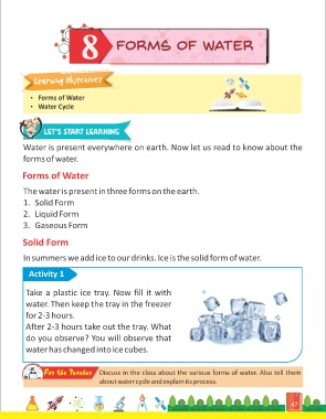 1f68ef0f22 8 Forms of Water Learning Objectives  Forms of Water  Water Cycle Let s  Start Learning Water is present everywhere on earth.